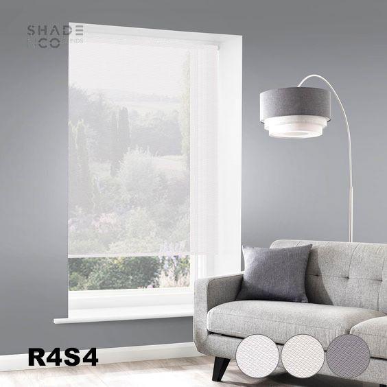 Roller Blinds Solar Screen 120cm x 185cm - R-4-S-4
