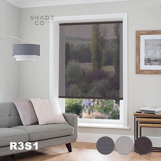 Roller Blinds Solar Screen 90cm x 250cm - R-3-S-1
